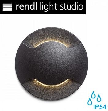 zunanja-vgradna-okrogla-led-svetilka-za-stopnice-škarpe-ip54-1w-dvojni-snop-črna
