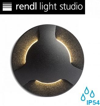 zunanja-vgradna-okrogla-led-svetilka-za-stopnice-škarpe-ip54-1w-trojni-snop-črna