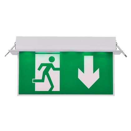 vgradna-zasilna-led-svetilka-varnostna-razsvetljava-avtonomija-3-ure-puščica-navzdol