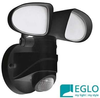 zunanji-senzorski-led-reflektor-eglo-ip44-črni