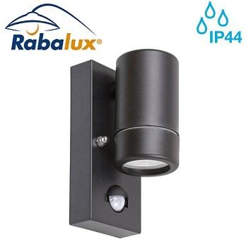 senzorska-stenska-fasadna-svetilka-gu10-z-enojnim-snopom-dol-črna