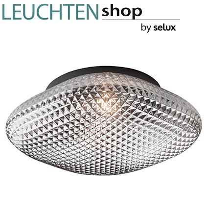 stropna-retro-vintage-steklena-svetilka-plafonjera-siva