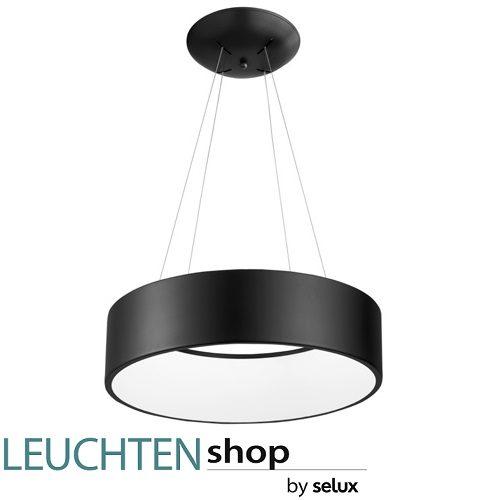 viseča-led-okrogla-svetilka-lestenec-črni