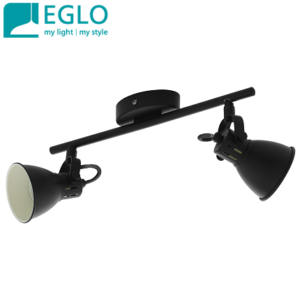 dvojni-retro-vintage-spot-reflektor-gu10-eglo-črni