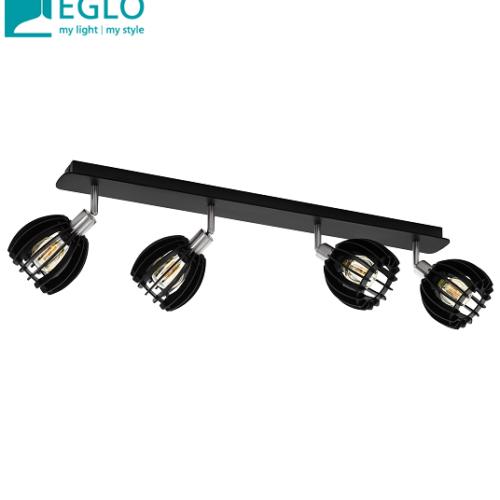 reflektor-iz-lesa-eglo-e14-črni-četverni