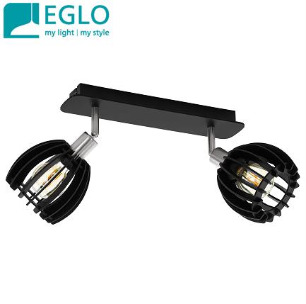 reflektor-iz-lesa-eglo-e14-črni-dvojni