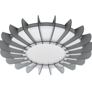 STROPNA LED SVETILKA ARAPILES fi 560 mm 33W 3000K V DVEH BARVAH