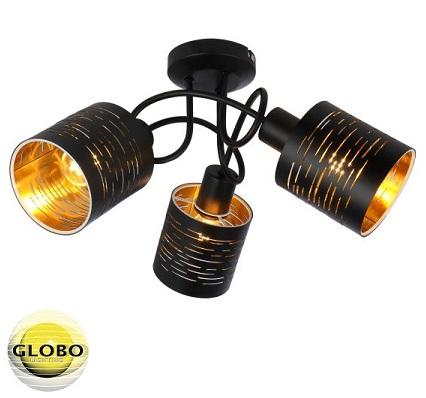 trojni-stropni-lestenec-reflektor-globo-črni