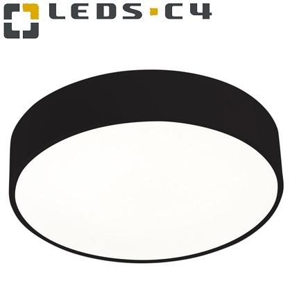 stropna-viseča-tekstilna-led-svetilka-okrogla-črna