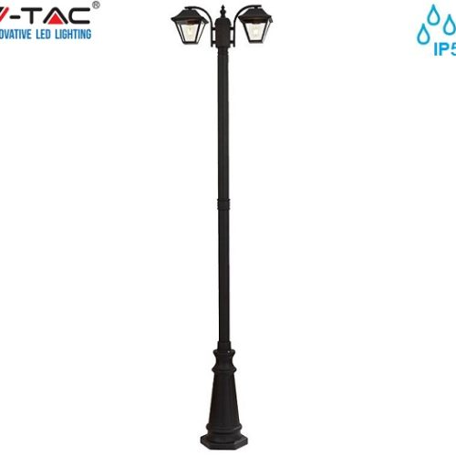 cestna-vrtna-ulična-klasična-trojna-svetilka-e27-ip44-črna