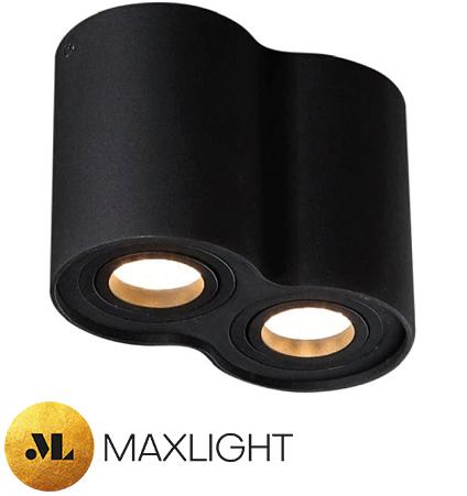 stropni-okrogli-spot-reflektor-gu10-črni-dvojni