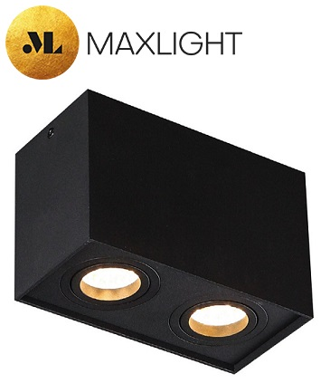 stropni-spot-reflektor-gu10-beli-črni-kvadratni-dvojni