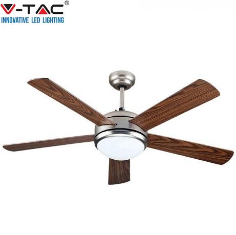 stropni-ventilator-z-led-svetilko-inox-rjavi-les-daljinsko-upravljanje