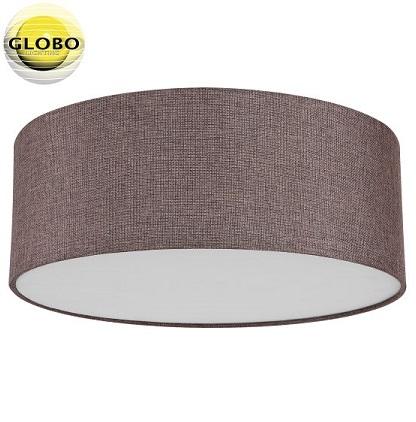 stropna-tekstilna-svetilka-plafonjera-fi-400-mm-rjava