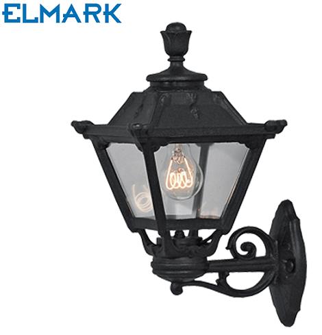 vrtna-stenska-klasična-svetilka-ip55-črna-elmark