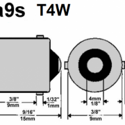 BA9S LED CANBUS SIJALKA 9LED 5050 SMD 2,7W