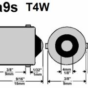 BA9S/T4W LED SIJALKA KONVEKS