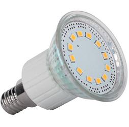 E14/R50 LED SIJALKA 3W TOPLO BELA 2700K 120°