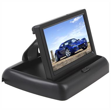 BARVNI ZLOŽLJIVI LCD ZASLON PZ43-C 4,3 inch ZA KAMERO ZA VZVRATNO VOŽNJO