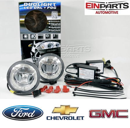 LED MEGLENKE IN DNEVNE LUČI V ENEM-DUOLIGHT ZA CHEVROLET, GMC IN FORD 2X9,5W+2X10W