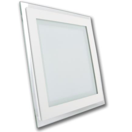 vgradni led panel downlighter 190x190 mm 18w 4500k ali 6000k steklen spletna trgovina. Black Bedroom Furniture Sets. Home Design Ideas