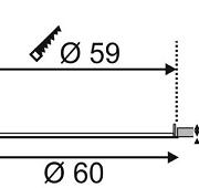 VGRADNI LED PANEL fi 600 mm 40W 3000K ALI 4000K