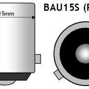 BAU15S/PY21W CANBUS LED SIJALKA 8,1W ORANŽNA