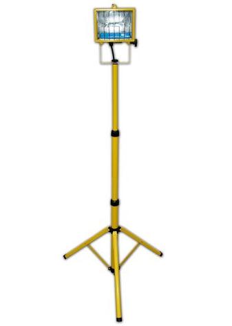 DELOVNI HALOGENSKI REFLEKTOR NA STOJALU H 1870 mm 500W IP54