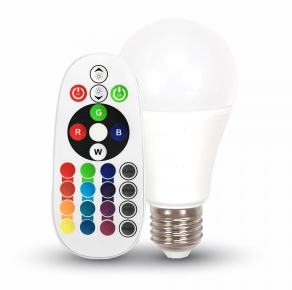 RGB E27 LED SIJALKA 6W Z DALJINSKIM UPRAVLJANJEM