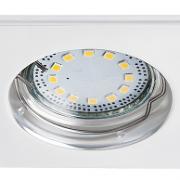 VGRADNA LED SVETILKA LITE 80X80 mm GU10 SET 3X3W 3000K IP40 V TREH BARVAH