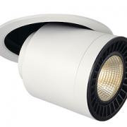 VGRADNI IZVLEČNI LED REFLEKTOR SUPROS MOVE fi 195 mm 28W 3000K BELI ALI ČRNI