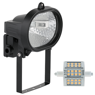 ZUNANJI LED REFLEKTOR R7S 7,5W 4000K IP65 V DVEH BARVAH