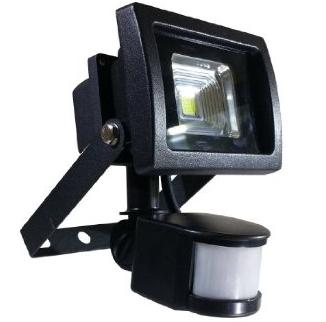 ZUNANJI LED REFLEKTOR S SENZORJEM 10W 3000K IP65 ČRNI