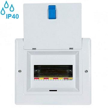 nadometna-kovinska-razdelilna-elektro-omarica-vodotesna-ip40-enofazna-enoredna-enovrstna-štirimestna