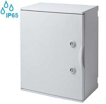 nadometna-zunanja-vodotesna-samogasilna-razdelilna-elektro-omarica-ip65-siva-430x320-mm