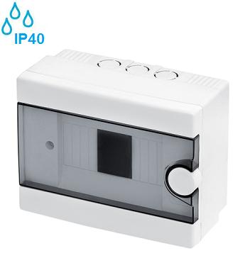 nadometne-nadgradne-zunanje-vodotesne-razdelilne-elektro-omarice-plastične-transparentna-vrata-ip40-enovrtsne-šestmestne