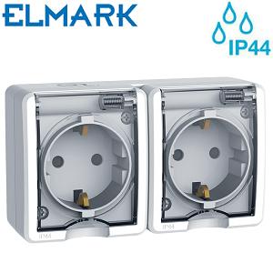 dvojna-nadometna-zunanja-industrijska-pokrita-vodotesna-vtičnica-ip44
