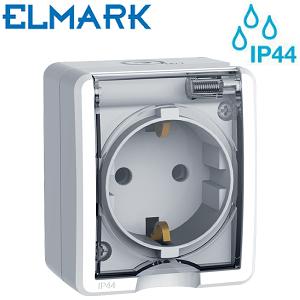 nadometna-zunanja-industrijska-pokrita-vodotesna-vtičnica-ip44