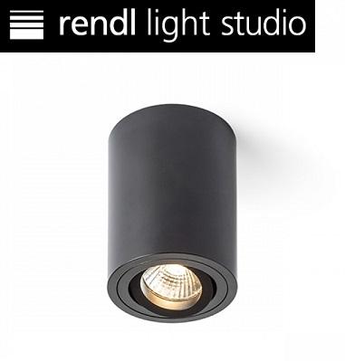 stropni-okrogli-gu10-reflektor-črni-nastavljiv-nagib