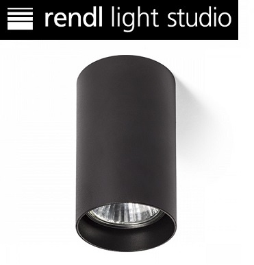 stropni-okrogli-reflektor-podnožje-gu10-črni-rendl-light