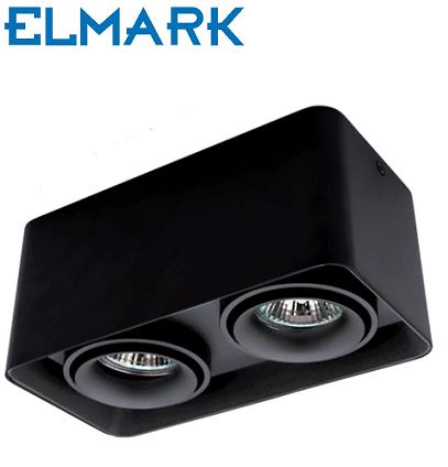 dvojna-nadometna-spot-svetilka-reflektor-kvadratni-gu10-črni