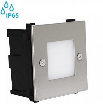 zunanja-vgradna-led-vodotesna-svetilka-ip65-inox-1w-kvadratna