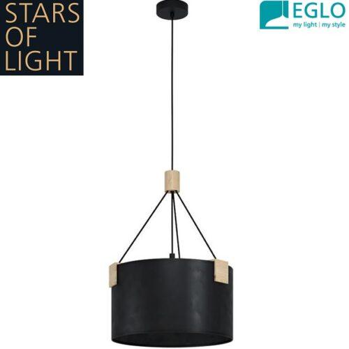 retro-vintage-lestenec-eglo-stars-of-light-črni
